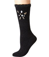 HUE - Chunky Bejewelled Micro Rib Sock