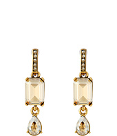 Oscar de la Renta - Octagon and Pear Stone P Earrings