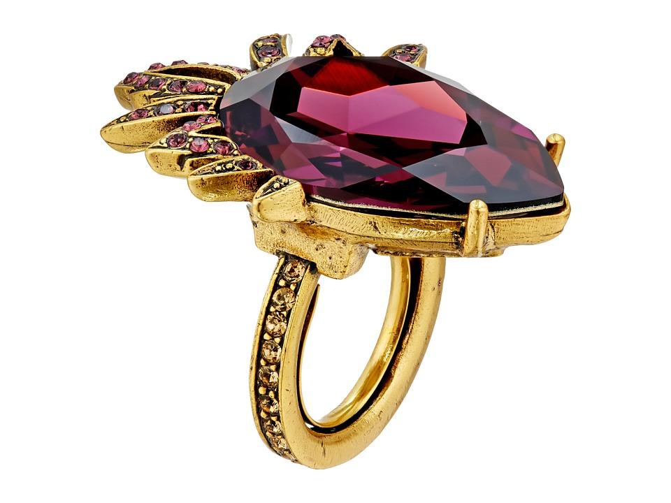 Oscar de la Renta Bold Pear Stone Ring Ultraviolet Ring