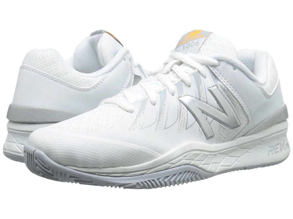 New Balance WC1006v1 (White/Silver) Women's Tennis Shoes