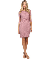 Adrianna Papell - Lace Overlay with Sleeve Dress