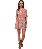 Free People - Rayon Gauze Love Birds Mini Dress