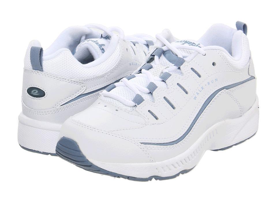Easy Spirit Romy (White/Medium Blue Leather) Women's Walking Shoes