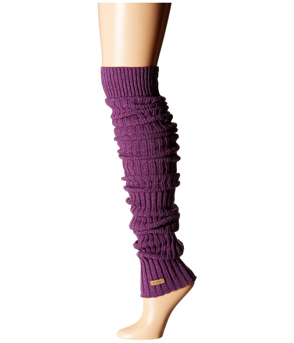 ToeSox Leg Warmer Thigh-High (Plum) Women's Knee High Soc...