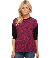 kensie - Two-Tone Slub Top KS8K3704