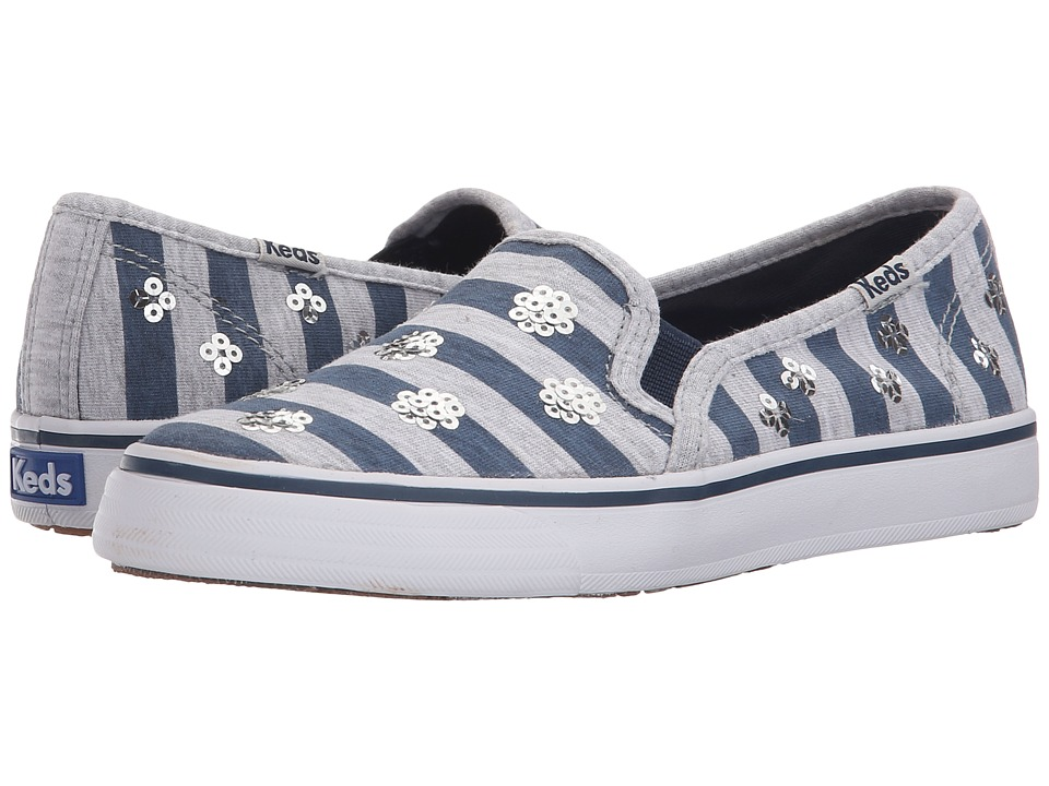 Keds Kids Double Decker Little Kid/Big Kid Navy Stripe Girls Shoes