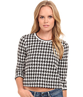 kensie - Raised Houndstooth Top KS9K3718