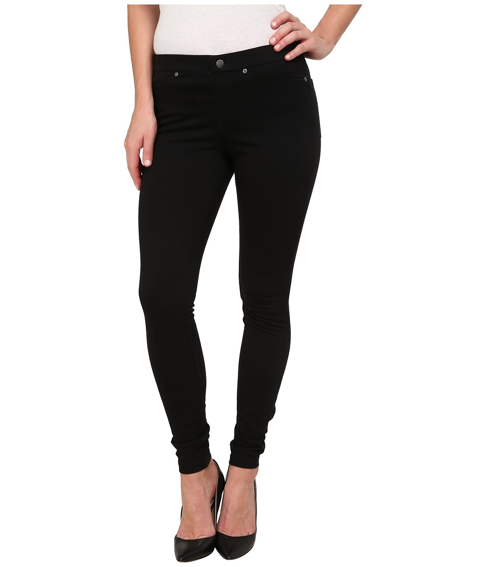 HUE - Super Smooth Denim Leggings (Black) Womens Jeans
