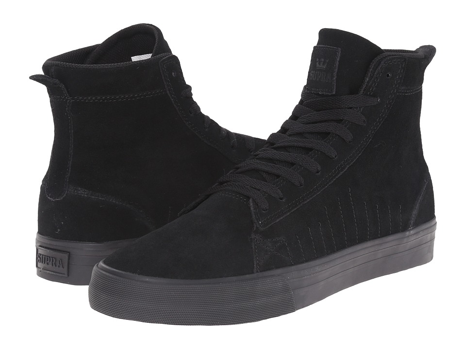 Supra Belmont High Black/Black/Black Mens Skate Shoes