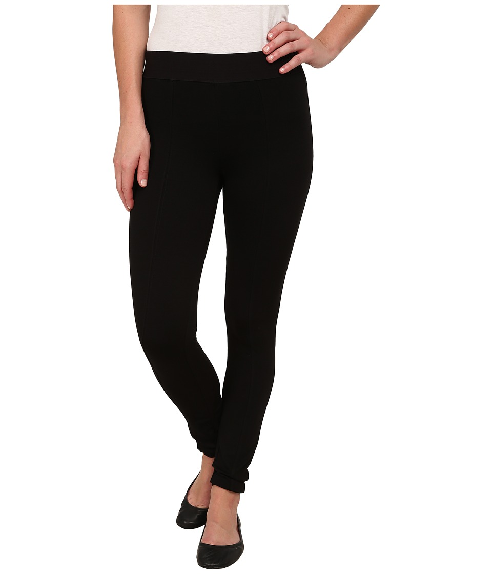 HUE - Blackout Leggings (Black) Womens Casual Pants