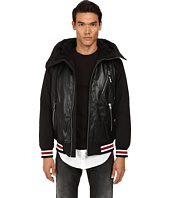 LOVE Moschino - Faux Shearling Bomber with Faux Leather Front