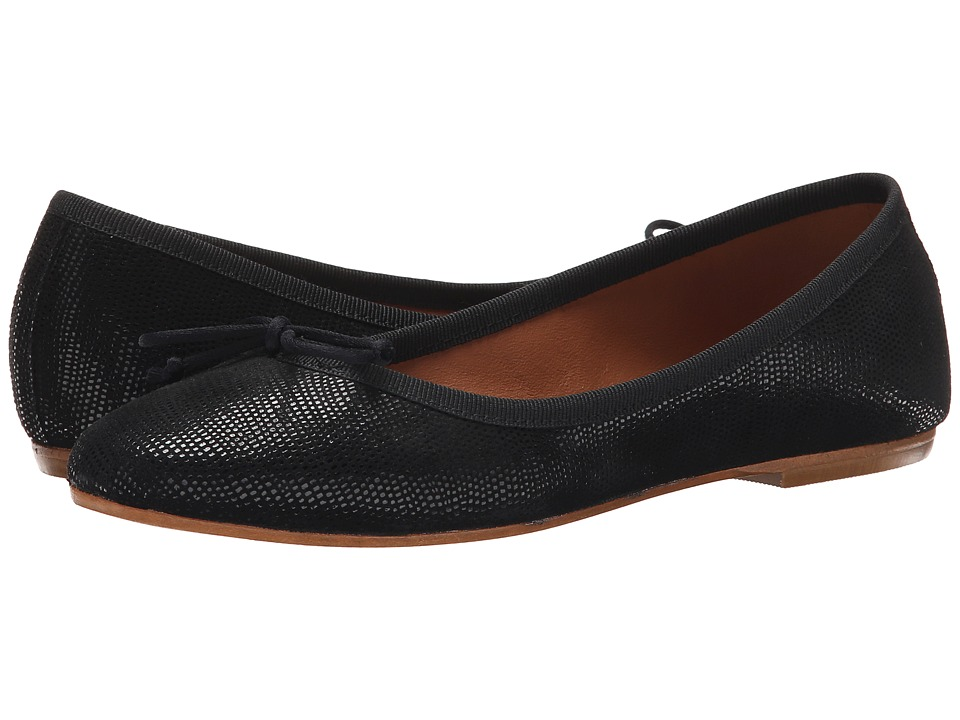 Summit White Mountain Kendall Black Exotic Leather Womens Slip on Shoes