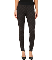 HUE - Plaid Elastic Waistband Ponte Leggings