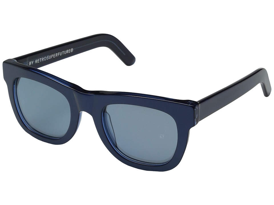 Super Ciccio Metallic Metallic Blue Fashion Sunglasses