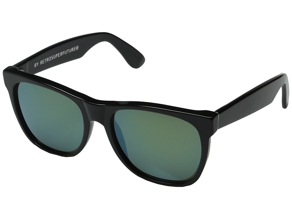 Super Classic Patrol Shiny Black/Bottle Green Fashion Sunglasses