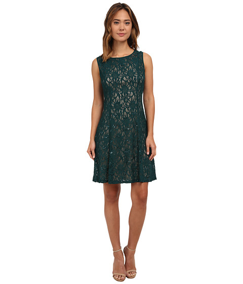 rsvp Radiant Fit and Flare Sequin Lace Dress