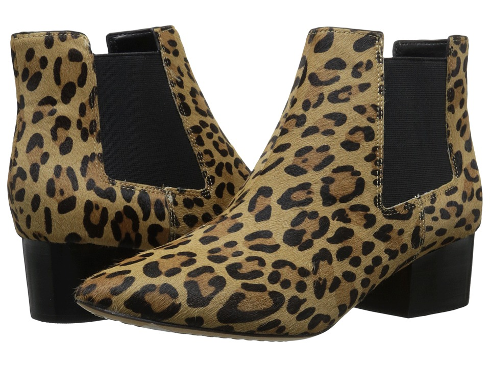 French Connection Ronan Classic Leopard/Black Womens Slip on Dress Shoes