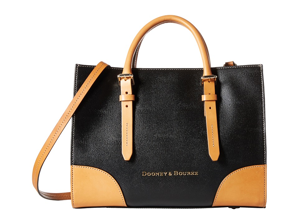 Dooney & Bourke - Claremont Janine (Black/Butterscotch Trim) Handbags