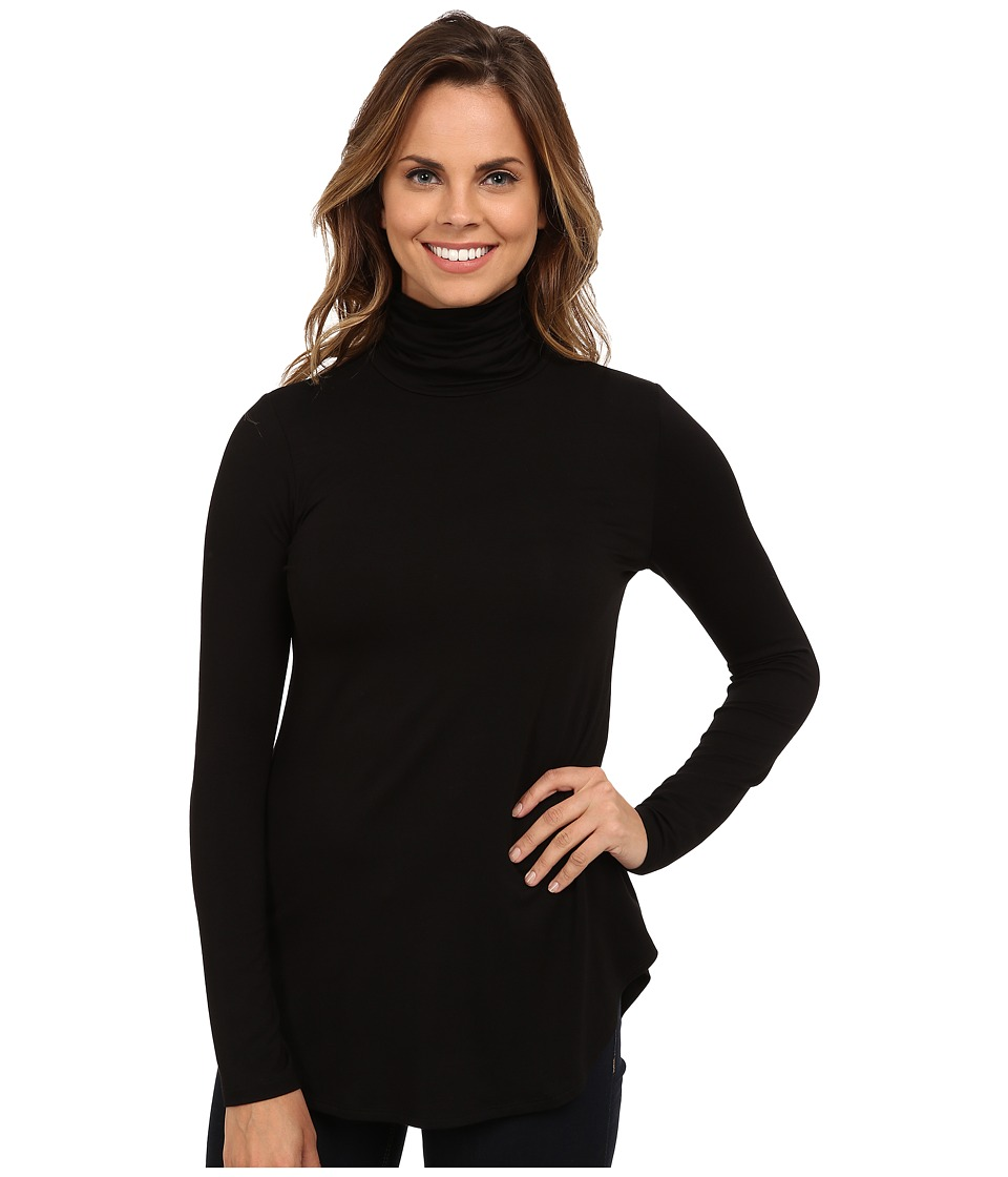 Karen Kane - Long Sleeve Turtleneck Tee (Black) Women