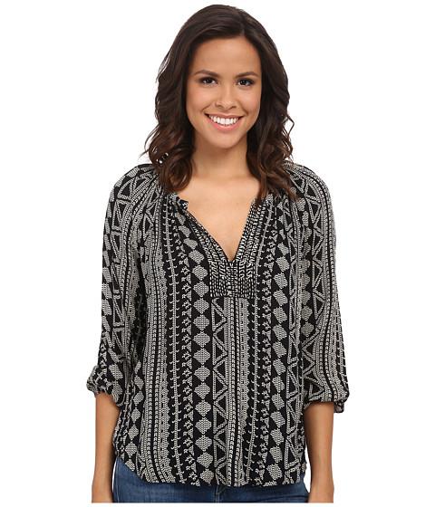 Velvet by Graham & Spencer Dominica03 African Print Long Sleeve Shirt