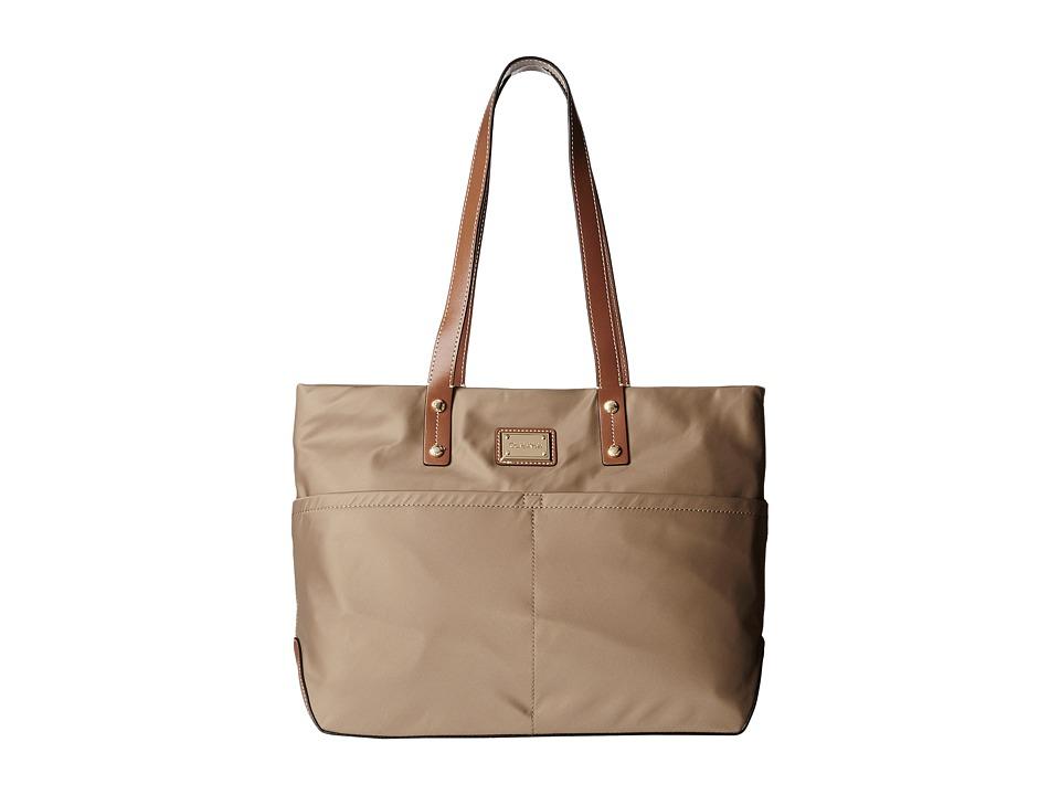 Calvin Klein - Nylon Tote (Light Khaki) Tote Handbags