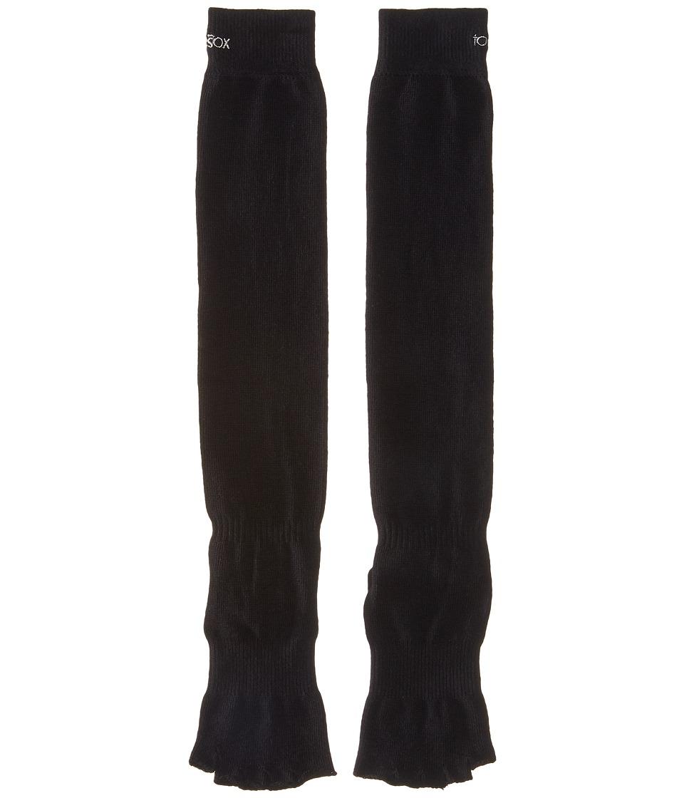 toesox - Grip Half Toe Scrunch (Black) Womens Knee High Socks Shoes