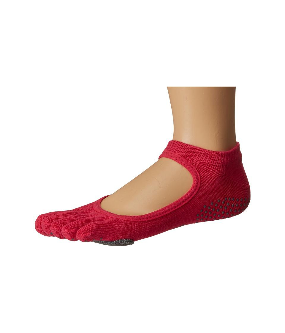 toesox - Dance Full Toe Plie (Fuchsia) Womens Crew Cut Socks Shoes