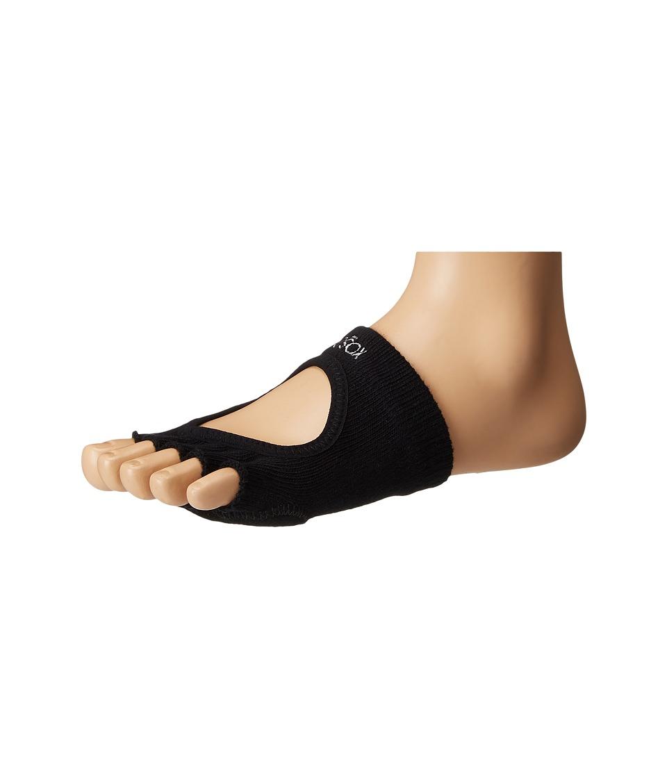 toesox - Dance Half Toe Releve (Black) Womens Crew Cut Socks Shoes