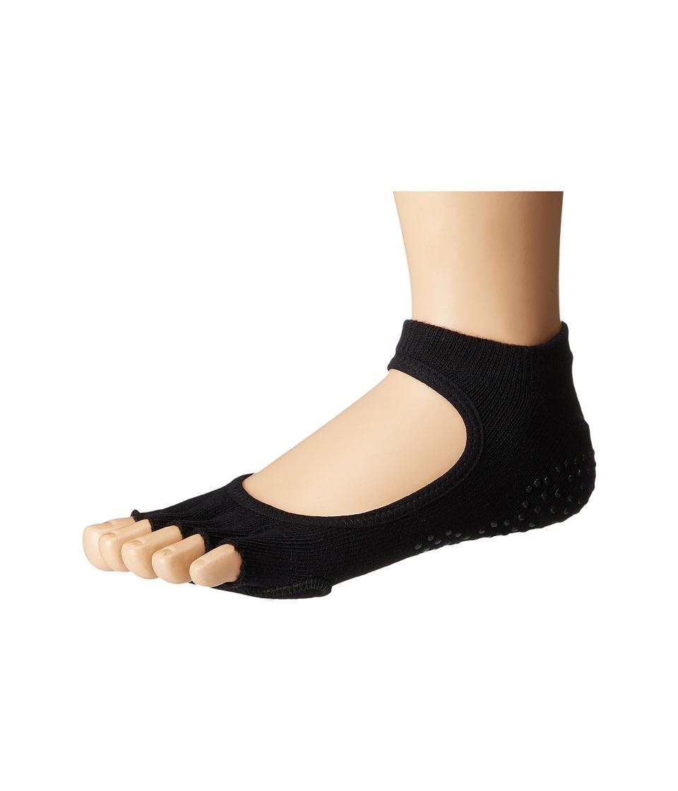 toesox - Dance Half Toe Plie (Black) Womens Crew Cut Socks Shoes