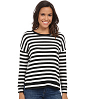 Velvet by Graham & Spencer - Teresita03 Cozy Jersey Stripe Long Sleeve Pullover