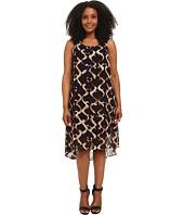 Karen Kane Plus - Plus Size Print Hi Lo Maxi Dress