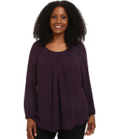 Karen Kane Plus - Plus Size Pleated Front Blouse