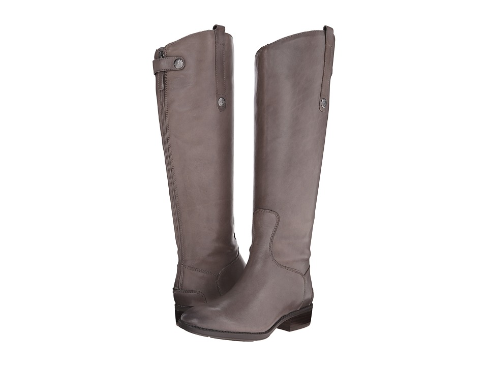 Sam Edelman Penny Leather Riding Boot (Grey Frost)