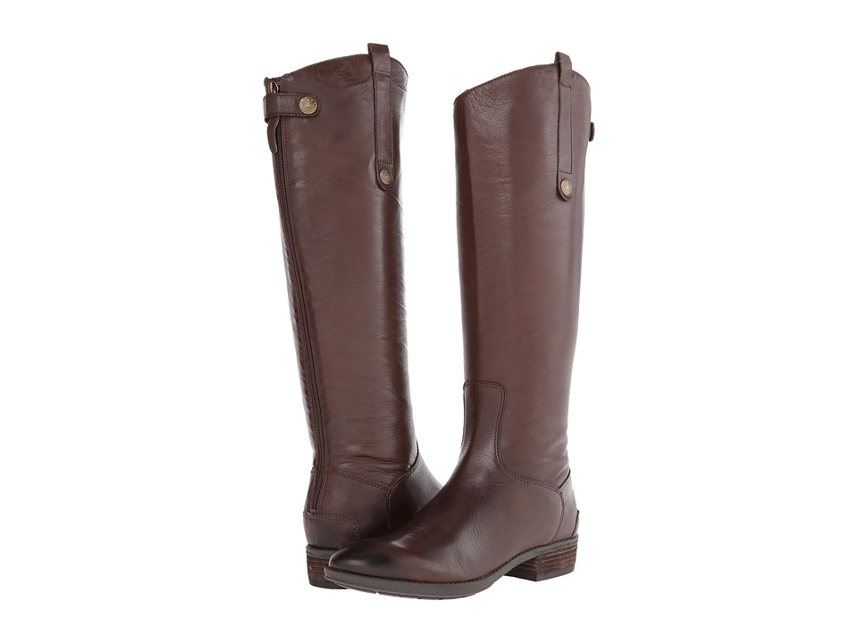 Sam Edelman Penny Leather Riding Boot (Dark Brown)