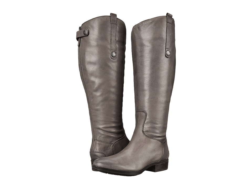 Sam Edelman Penny 2 Wide Calf Leather Riding Boot (Grey Frost) Women's Shoes