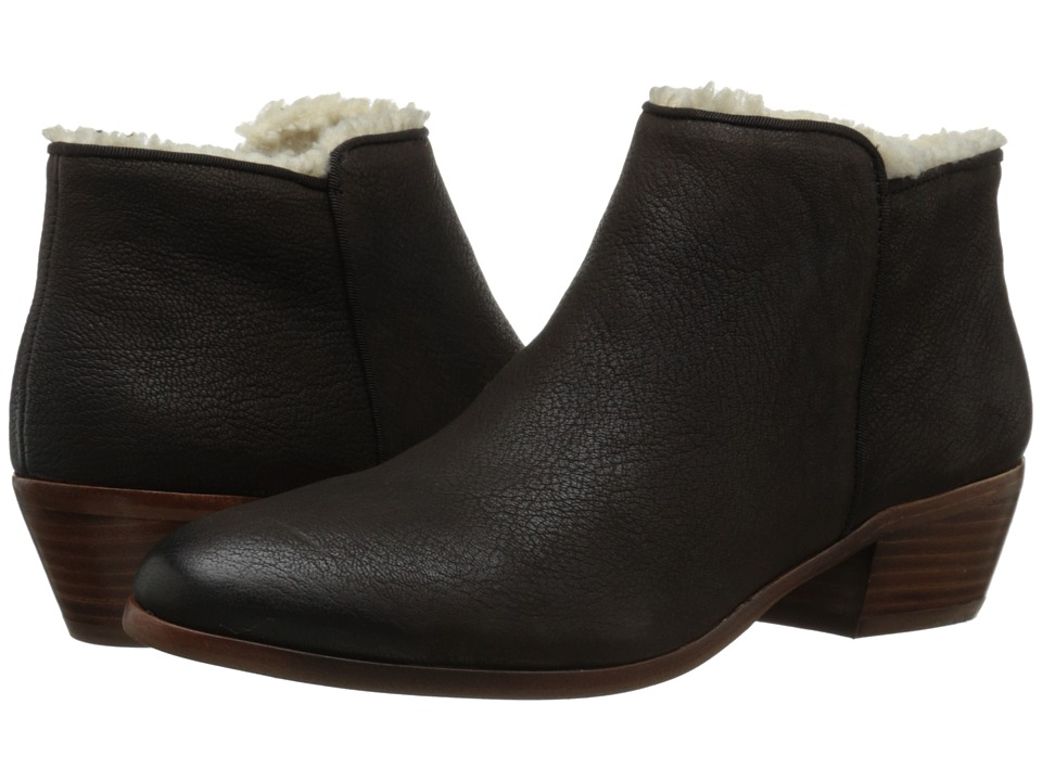 Retro Boots, Granny Boots, 70s Boots Sam Edelman - Petty Coffee w Shearling Womens Shoes $139.95 AT vintagedancer.com