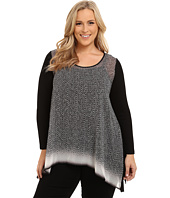 Karen Kane Plus - Plus Size Long Sleeve Handkerchief Top