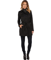 DKNY - Double Breasted Belted Trench w/ Zipper and Tab Details 06541-Y5