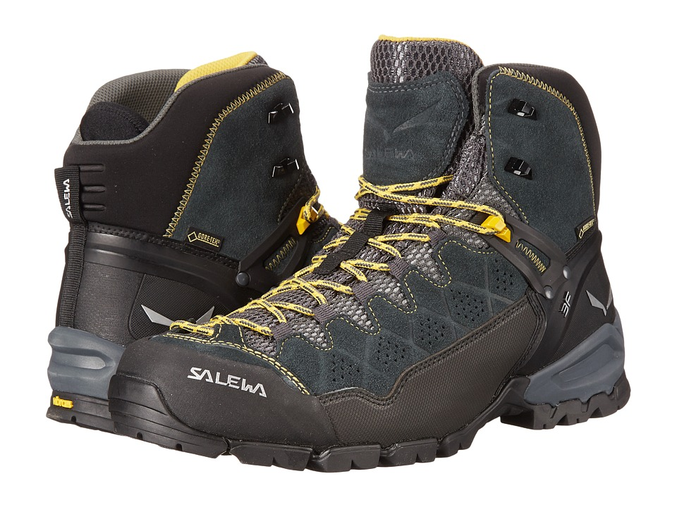 Salewa Alp Trainer Mid GTX(r) (Carbon/Ringlo) Men's Shoes