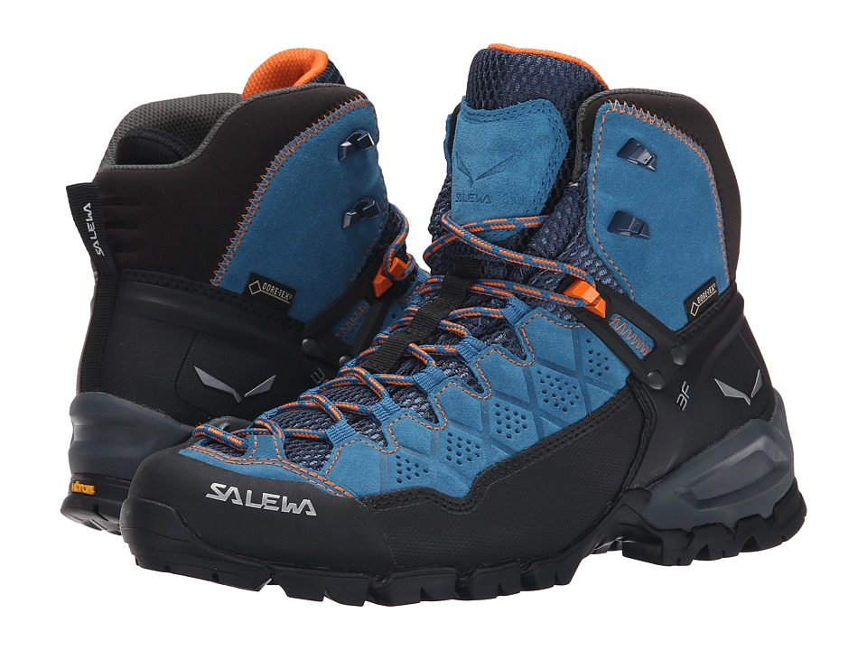 SALEWA Alp Trainer Mid GTX Washed Denim/Carrot Womens Shoes