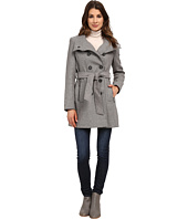DKNY - Double Breasted Stand Collar Trench w/ Zip Pockets 13439-Y5