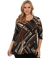 Karen Kane Plus - Plus Size Three-Quarter Sleeve Hi Lo Tunic