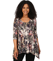Karen Kane Plus - Plus Size Three-Quarter Sleeve Handkerchief Top