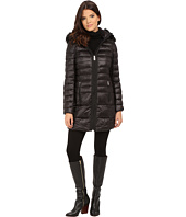 DKNY - 3/4 Hooded Faux Fur Trim w/ Grograin Taping 97604-Y5