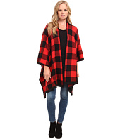 kensie - Buffalo Check Blanket Cardigan KS9K5810