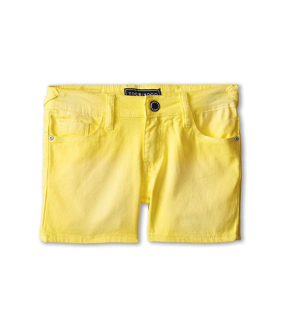 Toobydoo Summer Shorts Toddler/Little Kids/Big Kids Yellow Girls Shorts