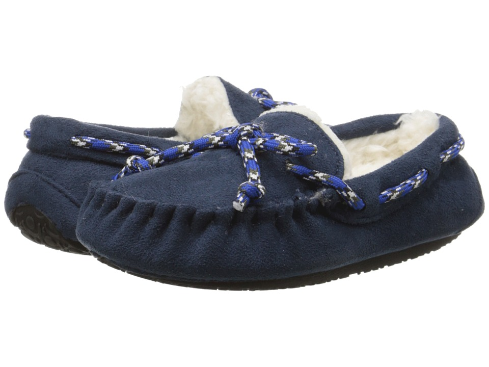 Stride Rite Moccasin with New Rubber Outsole Toddler/Little Kid Navy Boys Shoes