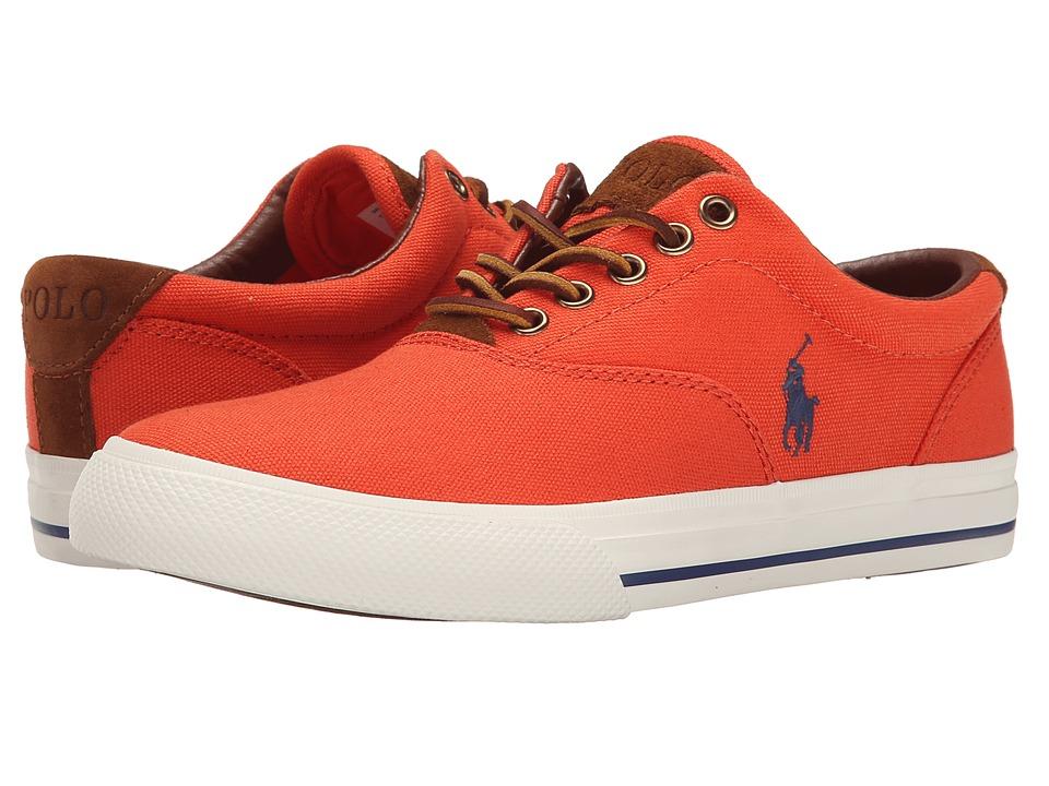 Polo Ralph Lauren - Vaughn (Deco Orange Canvas/Sport Suede) Men