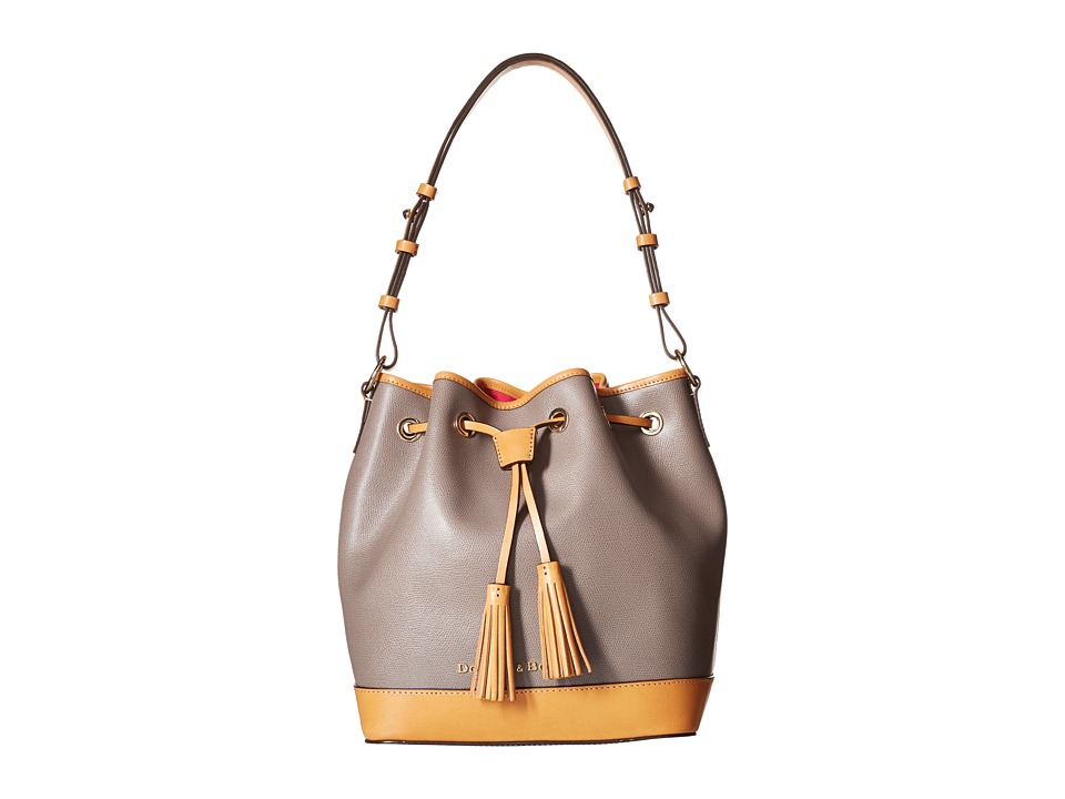 Dooney & Bourke - Claremont Drawstring (Taupe/Butterscotch Trim) Shoulder Handbags