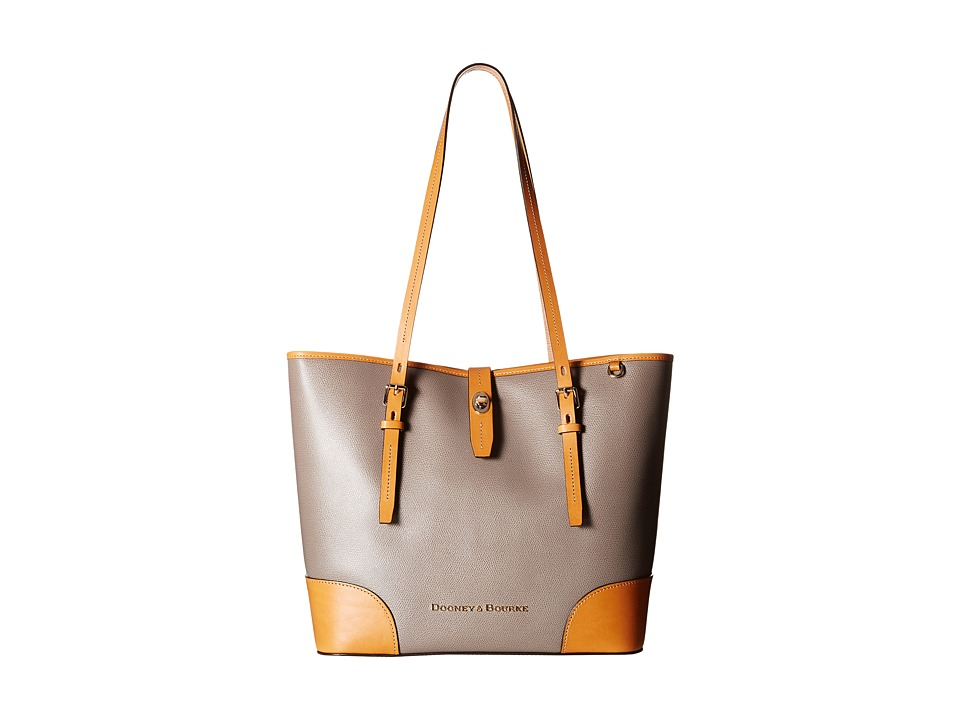 Dooney & Bourke - Claremont Dover Tote (Taupe/Butterscotch Trim) Tote Handbags